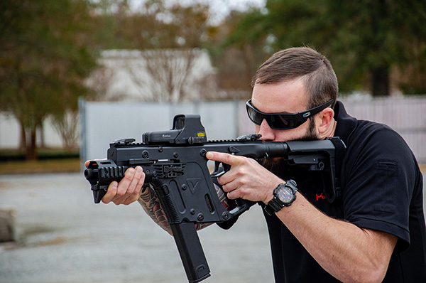 KRISS USA Now Shipping New Adjustable Pistol Arm Brace Vector